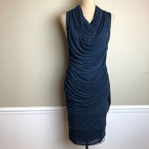 Helmut Lang ruched stretch dress